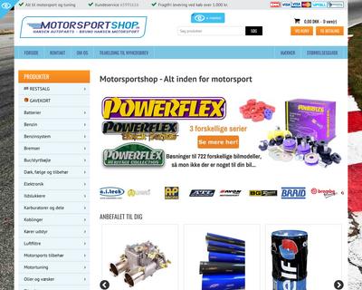 motorsportshop.dk website