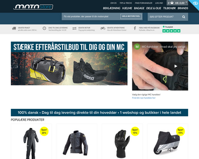 www.motostore.dk website