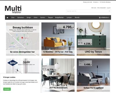 multimøbler.dk website