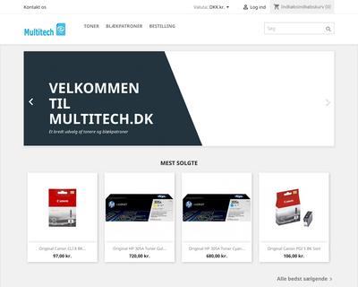 multitech.dk website