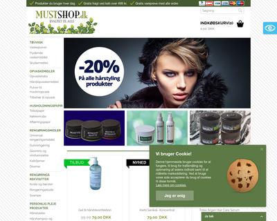 mustshop.dk website