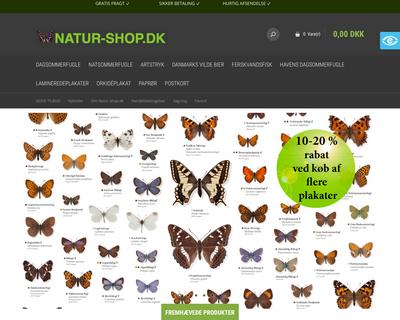 natur-shop.dk website