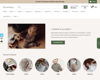 naturebaby.dk website