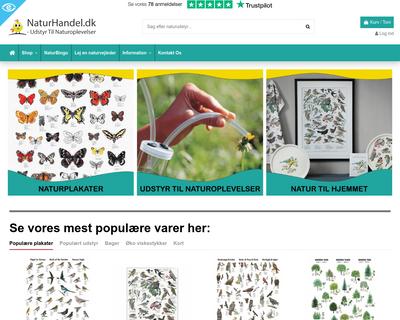 www.naturhandel.dk website