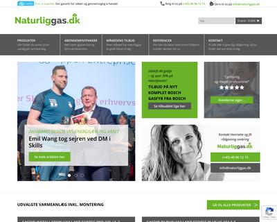 naturliggas.dk website