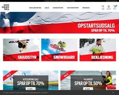 www.oneopensky.dk website