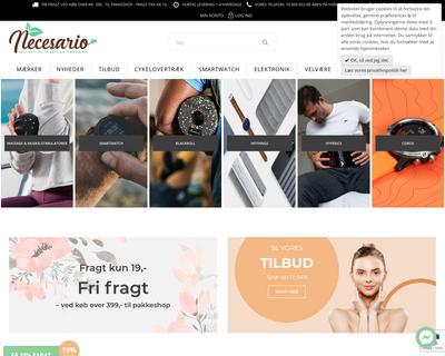 www.necesario.dk website