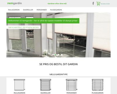 nemgardin.dk website