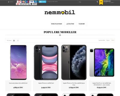 nemmobil.dk website