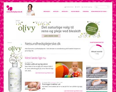 netsundhedsplejerske.dk website