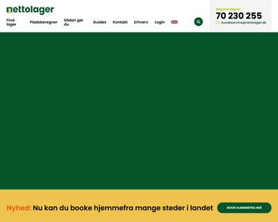 nettolager.dk website