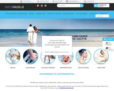 nettomedical.dk website