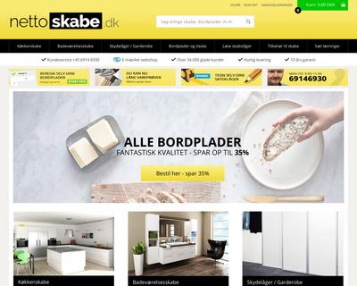 nettoskabe.dk website