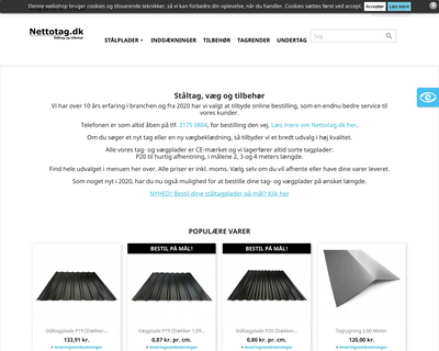 nettotag.dk website