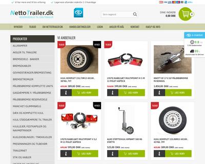 nettotrailer.dk website