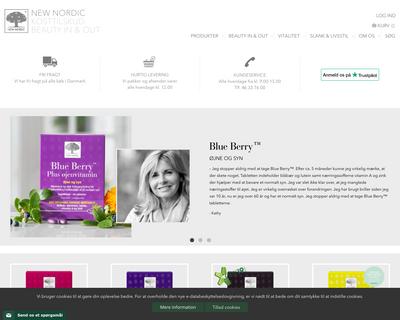 newnordic.dk website