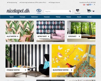 nicetapet.dk website