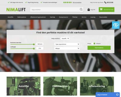 nimalift.dk website