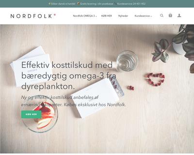 nordfolk.dk website