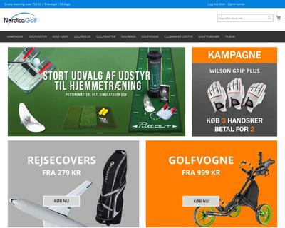 nordicagolf.dk website