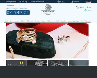 nordicdiamond.dk website
