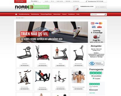 nordicfitness.dk website