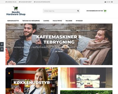 nordichardwareshop.dk website