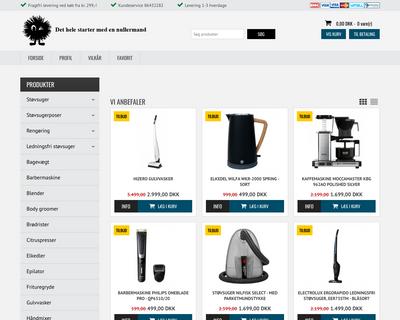 nullermand.dk website