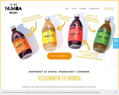 numba.dk website