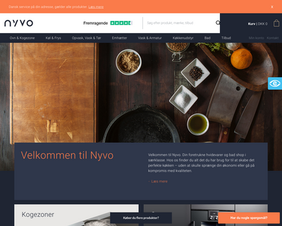 nyvo.dk website
