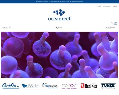 oceanreef.dk website