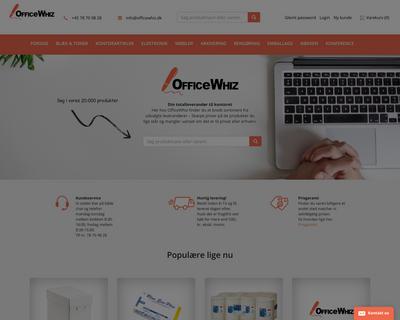 www.officewhiz.dk website