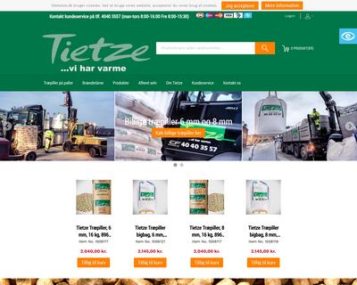 oletietze.dk website