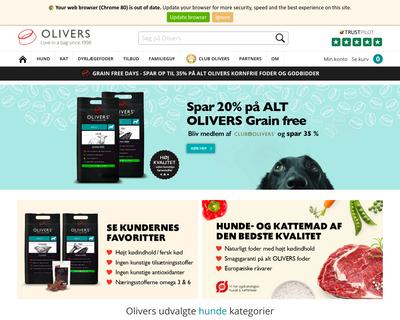 olivers.dk website