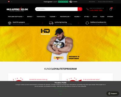 www.only-approved.dk website