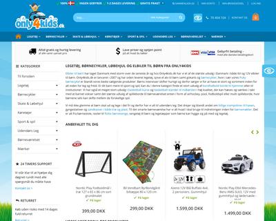 only4kids.dk website