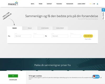 pakke.dk website