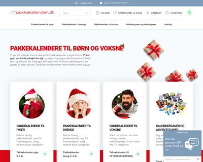 pakkekalender.dk website