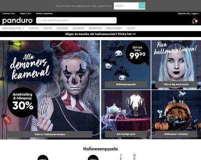 panduro.com website