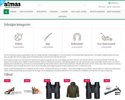 parkogfritid.dk website