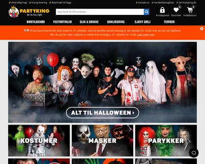 partyking.dk website