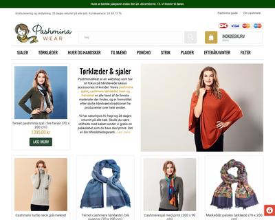 pashminawear.dk website