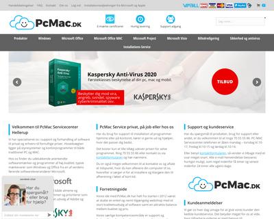 pcmac.dk website