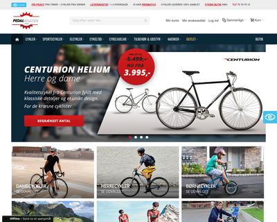 pedalatleten.dk website