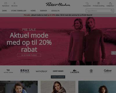 peterhahn.dk website