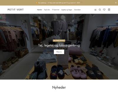 petitvert.dk website