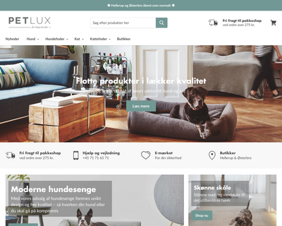 petlux.dk website