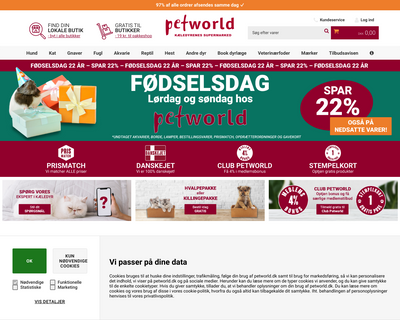 petworld.dk website