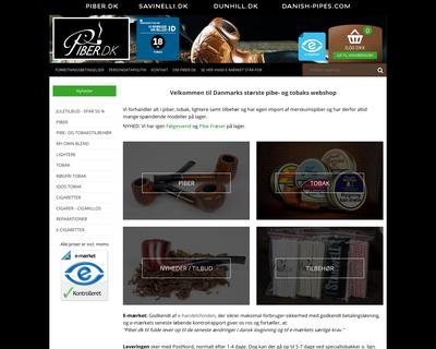 piber.dk website