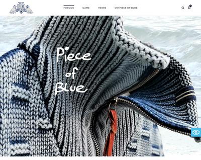 pieceofblue.dk website